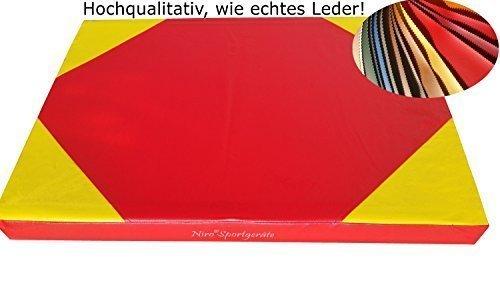 100 x 70 x 8 cm d'exercice mat, tapis doux sol couleur du : rouge/jaune