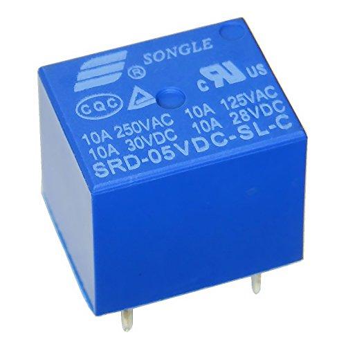 Miniatur Print Relais 5V 1-Wechsler 1xUM 10A/250V SRD-05VDC-SL-C -