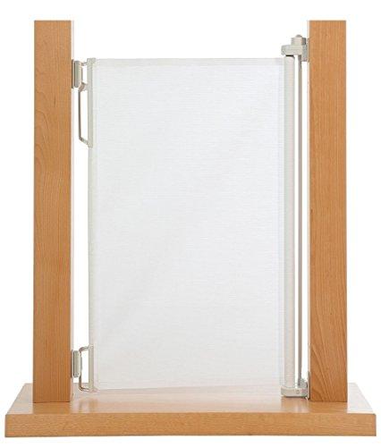 Impag HIGH Tür- und Treppenschutzgitter Rollo Extrahoch 105 cm ideal für große Menschen, einrollbar ausziehbar bis 150 cm Polar-Weiß - 2