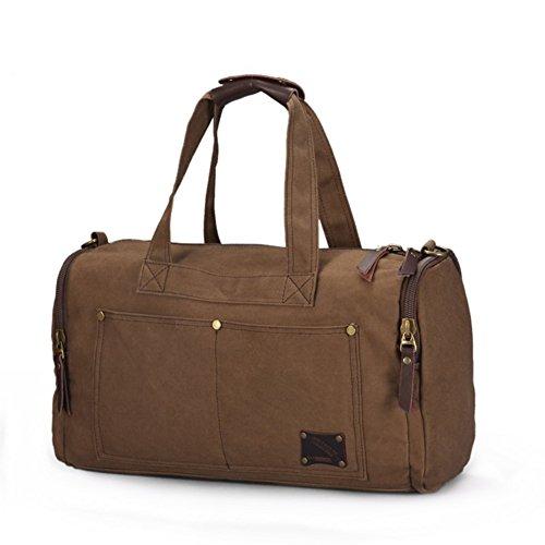 Sac à main bonne qualité fourre-tout sac d'épaule / sac à bandoulière / sac de voyage / sac de loisir / sac de sport unisexe (café)