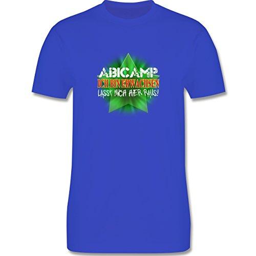 Abi & Abschluss - ABICAMP - ich bin erwachsen lasst mich hier raus! - Herren Premium T-Shirt Royalblau