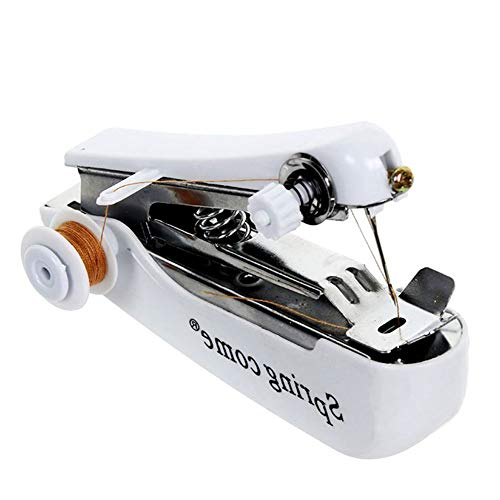 Naisicatar Machine à coudre manuelle mini portable outil de point à main couture Outil pour maison Vêtements Tissu Outils couleur aléatoire et décorations