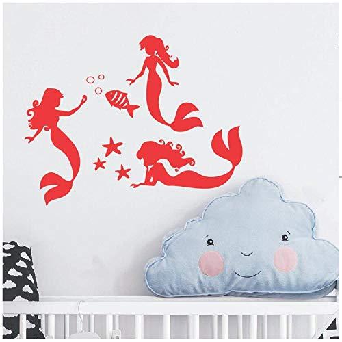 Empire Bubble (Zaosan Wandtattoo Vinyl Aufkleber Meerjungfrau & Fisch Bubble Badezimmer Badewanne Art Deco abnehmbare Fenster Design Poster)
