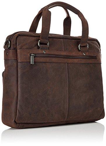 Sansibar - Business Bag, Borse a secchiello Unisex - Adulto Marrone (Dark Brown)
