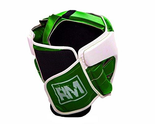 RingMasterUK Kopfschutz für Kinder, Kopfbedeckung für Boxen, Kampfsport, Kickboxen, Kinder, grün, X-Small Abbildung 3