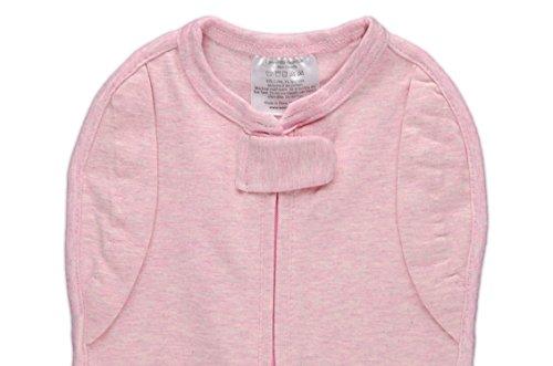 Wechsel-Pucksack Woombie Pinkes Bouquet - beste Gewöhnung an das Schlafen ohne Pucksack - abnehmbare Ärmel - kuscheliger BabyPucksack (OHNE Netzstoff auf Brusthöhe) für Neugeborene von 0-3 Monaten mit einem Gewicht von 2,5 bis 6 kg