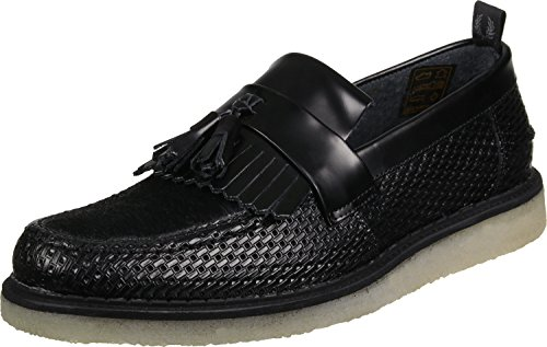 Fred Perry FS x GC Tassel Loafer Perf Leather Scarpa Nero