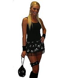 Skull Cross Bones Pirate Fancy Dress, Tutu Skirt Bandana Pouch Garter set