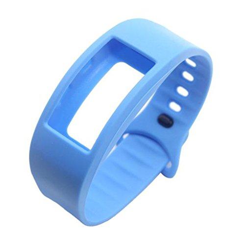 Vovotrade ❤❤Für Samsung Gear Fit 2 SM-R360 Luxus Silikon Uhr Ersatz Band Strap Wristband (Himmelblau)