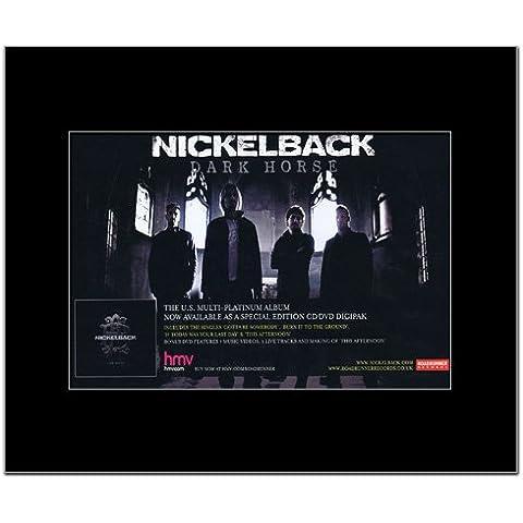 Nickelback–oscuro caballo mate Mini Póster de–21x 13,5cm