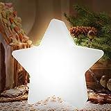 PK-Trading LED Deko Stern/Leuchtstern Wiederaufladbar, L: 25 cm/B: 11 cm/H: 25 cm, LED Accessoires für die Wohnung oder Garten mit 16 Farben als Farbwechsel