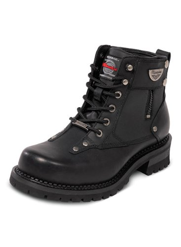 MMCC Leather Milwaukee Motorcycle Clothing Company Men's Outlaw Motorcycle Boots (Size 8)