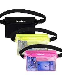 iVoler wasserdichte Tasche Beutel Bauchtasche Handyhülle Schutzhülle Strand-Tasche für Geld, Kamera und Smartphones Ideal für Wassersport, Strand, Schwimmen, Bootfahren