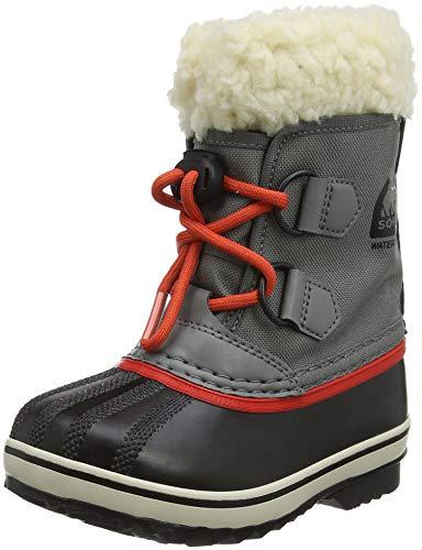 Sorel Kinder Childrens Yoot Pac Nylon Stiefel, grau (quarry)/rot (sail red), Größe: 28 - Sail Red Schuhe