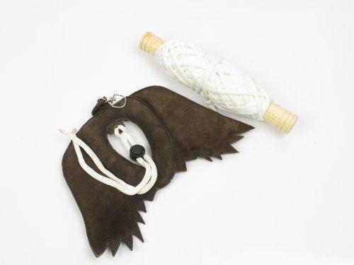 Alta calidad piel auténtica de cetrería Ante/Bird de/con aletas Swing señuelo.