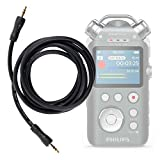 DURAGADGET Cable De Audio para Philips DVT7500, ieGeek 8GB, Roland R-07 Portable Audio Recorder - Entrada de 3.5mm Y Bañado En Oro