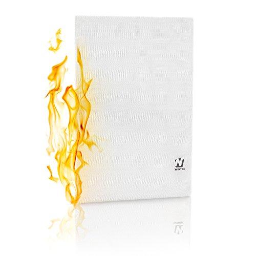 WINTEX Feuerfeste und Wasserresistente Dokumententasche | DIN A4 | aus hochwertigem Fiberglas
