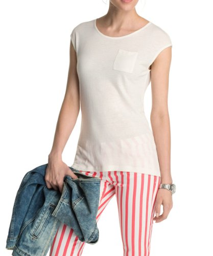 ESPRIT Collection - Viskose Mix 034EO1K034 - Top Femme Blanc (OFF WHITE)