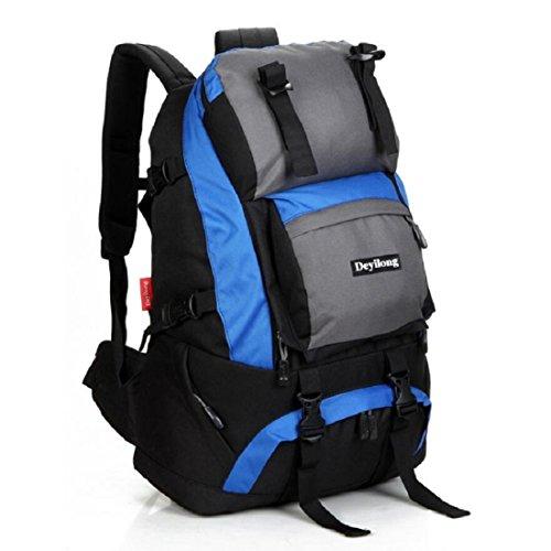 Z&N Hochwertige Nylon 40L Kapazität Outdoor Sport Bergsteigen Klettern Camping Rucksack Wandergepäcktasche Umhängetasche Multifunktionsrucksack Unisex A