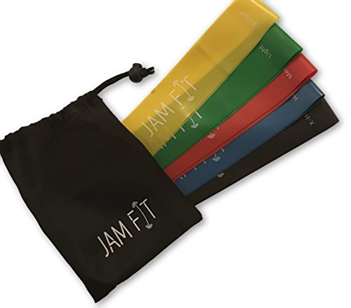Jam-Fit-Resistance-Bands-Resistance-Loop-Bands-or-Pull-Up-Bands-Set-of-5-Home-Fitness-Exercise-Bands-for-Workout-Physical-Therapy-Pilates-Yoga-Rehab-Improve-Rehab