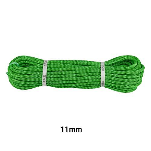 MLMHLMR Kletterseil Kraftseil Verschleißseil Durchmesser 11mm grün Kletterseil (Size : 10M)
