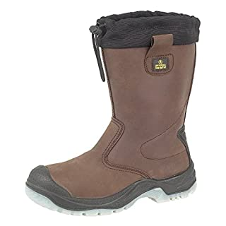 Amblers Mens Steel Fs219 Safety Pull On Riggers Work Boots Brown Size 8