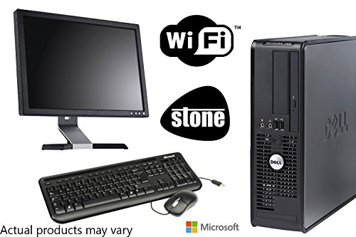 "Newly Refurbished Dell Dual Core PC Bundle with Microsoft Windows 10 and WIFI - 17"" Monitor - Keyboard and Mouse"