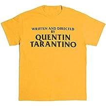 ZFFde Camiseta de mujer Short Top Escrito y dirigido por Quentin Tarantino Camiseta con cuello en
