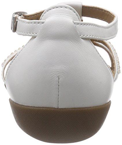 Clarks Raffi Star, Salomés Femme Blanc (White Leather)