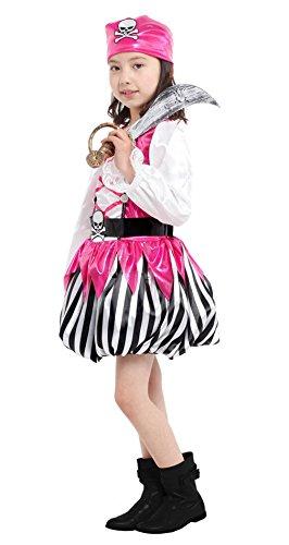 Imagen de marryme niña traje de vestido disfraz ladrón fiesta halloween rosa l 120 130cm  alternativa