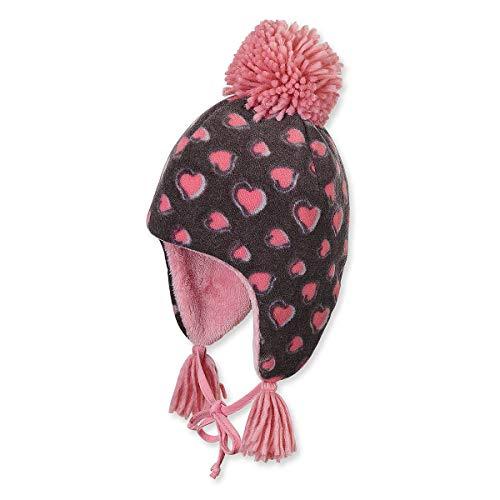Sterntaler - Mädchen Mütze Inka-Mütze mit Bommel zum binden, Herzen, von...