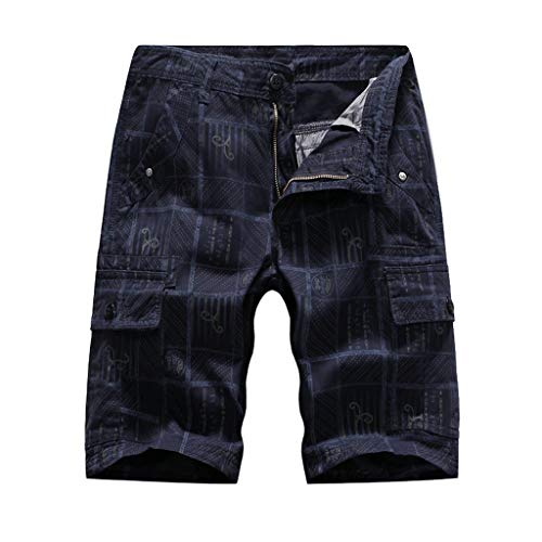 YU'TING ☀‿☀ Cargo Pantaloncini Uomo, Bermuda Cargo Short Multi Tasca Pantaloncini da Uomo Vintage Corti Bermuda Shorts