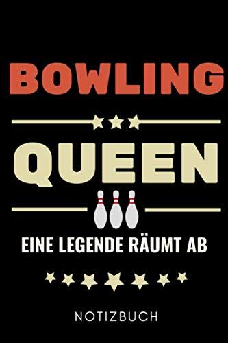 BOWLING QUEEN EINE LEGENDE RÄUMT AB NOTIZBUCH: A5 Notizbuch PUNKTIERT Geschenk für Bowlingspieler | Bowlingbuch | Kegeln | Bowling | Kegelspiel | Mannschaft | Bowlingfan | Bowler | Sport | Männer