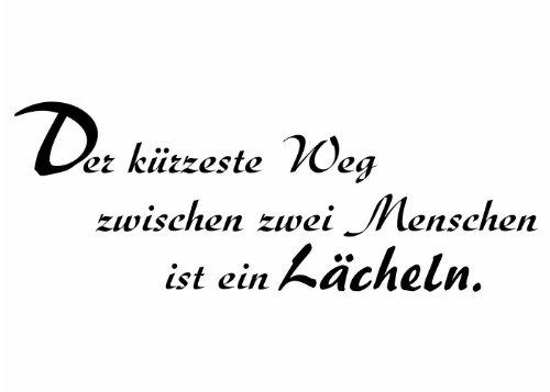 Wandtattooladen Wandtattoo - Der kürzeste Weg zwischen zwei Menschen ... Größe:150x55cm Farbe: Schablone