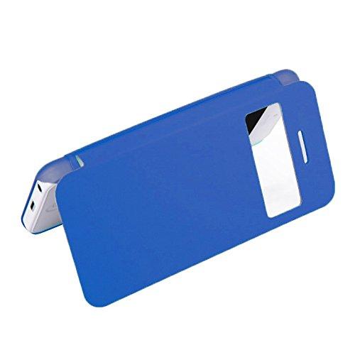 D9Q Flip Leder Fenster Ansicht Leder Case Cover Skin Protector Fall Hülle für Apple iPhone 5C !!Green