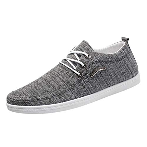 SCHOLIEBEN Moda Uomo Outdoor Canvas Casual Lace-Up Shoes Scarpe Pigri Sneakers Traspiranti