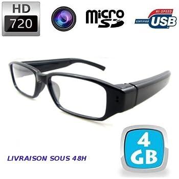 Lunettes de vue mini caméra espion HD 720P +4Go