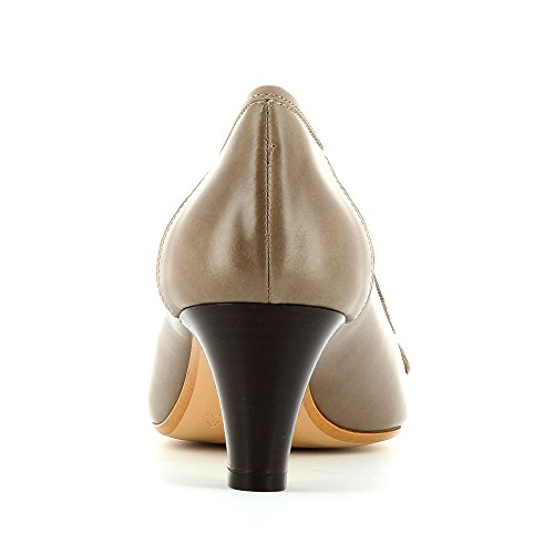 GIUSY escarpins femme cuir lisse Taupe
