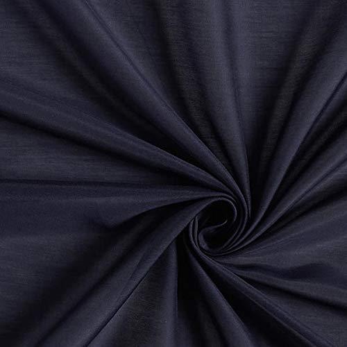 Fabulous Fabrics Superleichtes Baumwoll Seidengewebe Voile - Marineblau - Meterware ab 0,5m - zum Nähen von Blusen, Tuniken und Schals/Tücher - Baumwolle-seide Voile