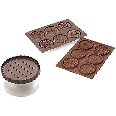 Silkomart 22.162.77.0165 - Set de galletas de chocolate Silikomart XMas