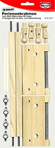 Perlenwebrahmen aus Holz für Armbänder mit Anleitung.