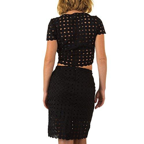 2 Teiler Anzug Für Damen bei Ital-Design Schwarz