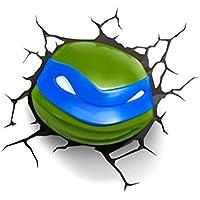3D Light FX Plastic Teenage Mutant Ninja Turtle Leonardo Light, Green/ Blue
