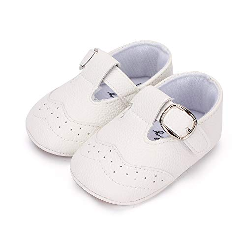LACOFIA Zapatillas Antideslizantes para bebé niño Zapato Primeros Pasos de Cuero...