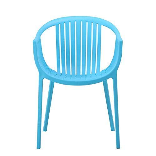 GP Nordic Kunststoffstuhl für den Außenbereich, Rückenlehne für Freizeit, Wohnzimmer, Gesprächsstuhl, europäische Armlehne, Lazy Chair 1 blau