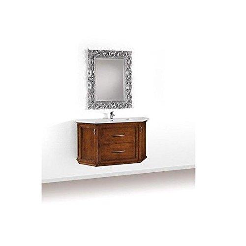 Esteamobili mobile bagno arredo legno massello arte povera classico con specchiera