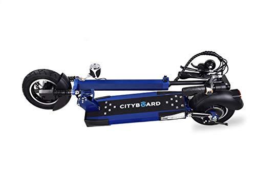 Cityboard E- Billionaire Elektro-Scooter für Erwachsene Unisex, Blau, 10 Zoll