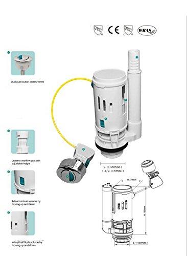 Housler, sistema di scarico sostitutivo con doppio pulsante, si adatta a tutti i WC