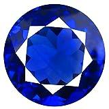 Tansanit Lose Edelsteine 19.97 ct AAAA+ GRADE ROUND CUT (17 x 17 mm) 100% NATURAL D'BLOCK PURPLISH BLUE TANZANITE LOOSE GEMSTONE