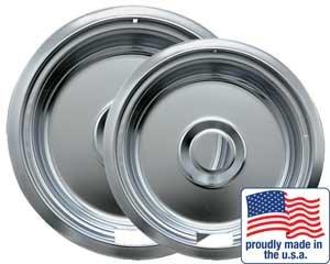 Range Kleen Artikelnummer 10910A2X 15,2cm und 20,3cm chrom universal Pfanne Zwei Pack 109-a und 110-a (Broiler Pan)